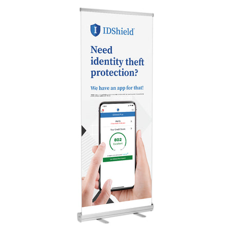 "IDShield Retractable Banner Stands (33""x77"")"