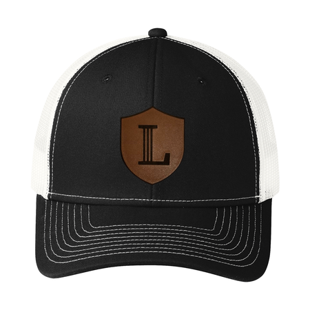 Snapback Trucker Cap with Icon Leather Patch