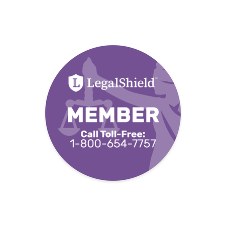 "LegalShield 3"" Window Decal"