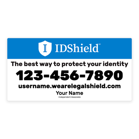 IDShield Car Magnets - Large/Blue