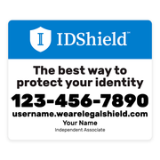 IDShield Car Magnets - Small/Blue