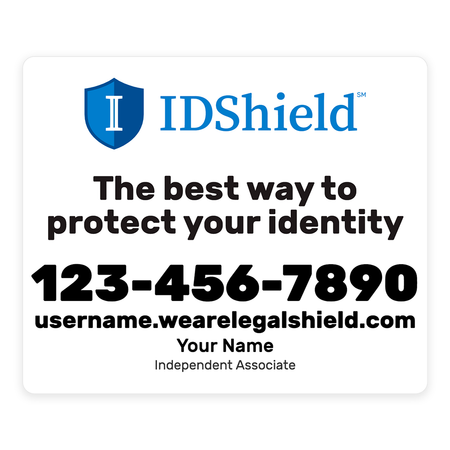 IDShield Car Magnets - Small/White
