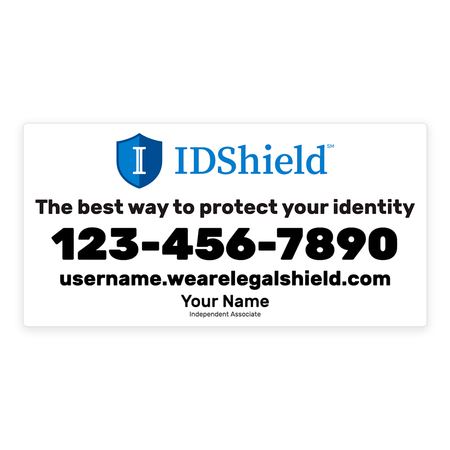 IDShield Car Magnets - Large/White