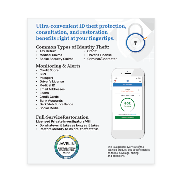 IDShield Tent Cards – The LegalShield Store by JFAonline com