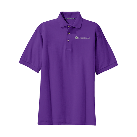 Men's Heavyweight Cotton Pique Polo - LegalShield Logo