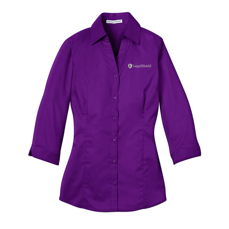 Ladies' 3/4-Sleeve Blouse - LegalShield Logo