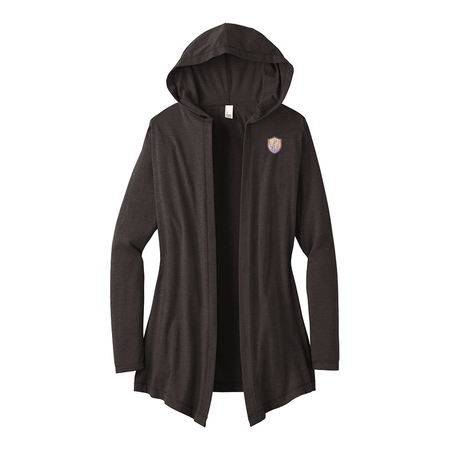Women's Perfect Tri Hooded Cardigan - Ladies of Justice Logo