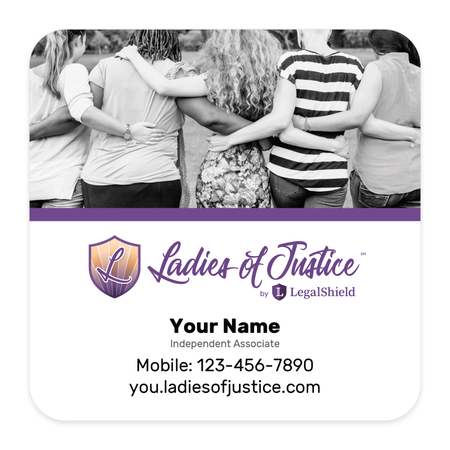 Ladies of Justice Pulpboard Coasters