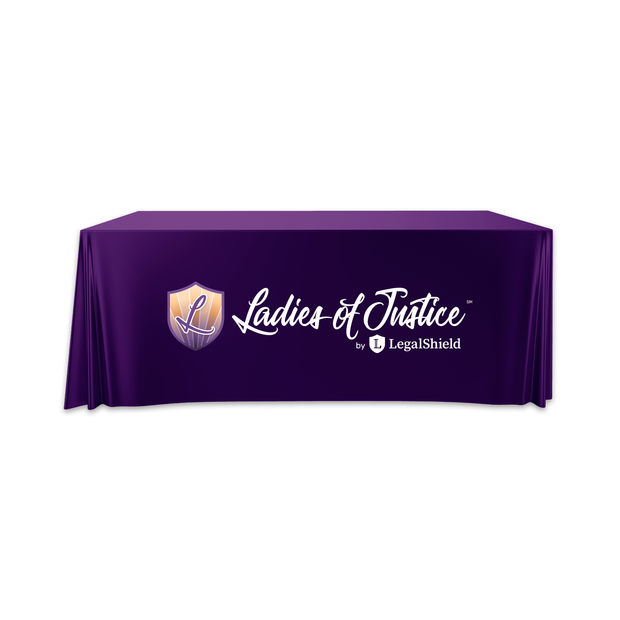 Convertible Ladies of Justice Table Throw - 6' to 8' (Clearance)