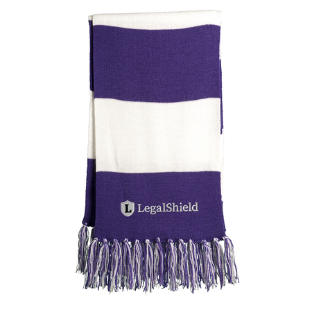Striped Scarf - LegalShield Logo