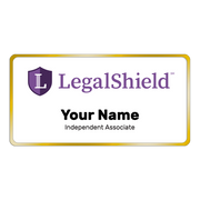"LegalShield Name Badge - Large (3"" x 1.5"")"