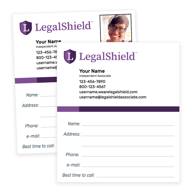 LegalShield Follow-Up Cards