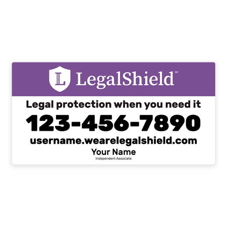 LegalShield Car Magnets - Large/Purple