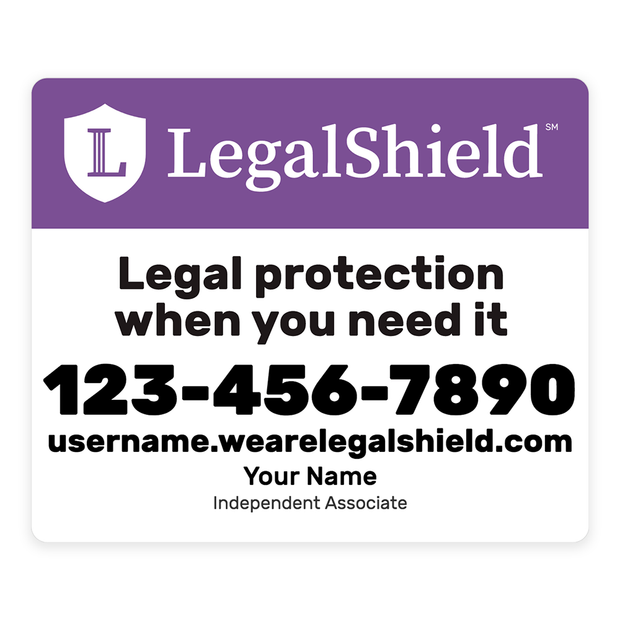 LegalShield Car Magnets - Small/Purple