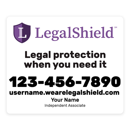 LegalShield Car Magnets - Small/White