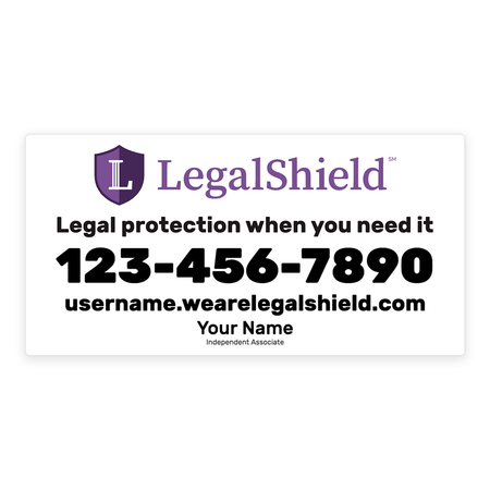 LegalShield Car Magnets - Large/White