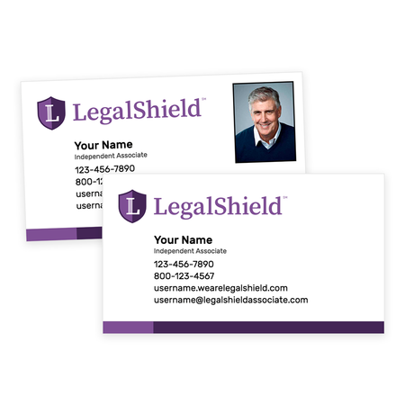 LegalShield Peel-and-Stick Business Cards