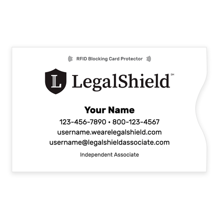 LegalShield RFID Blocker Credit Card Sleeve