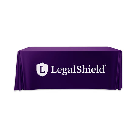 Convertible LegalShield Table Throw - 6' to 8'