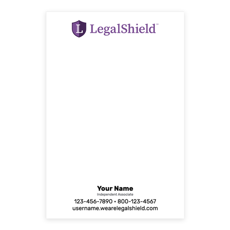 LegalShield Note Pads - Small