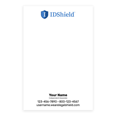 IDShield Note Pads - Small