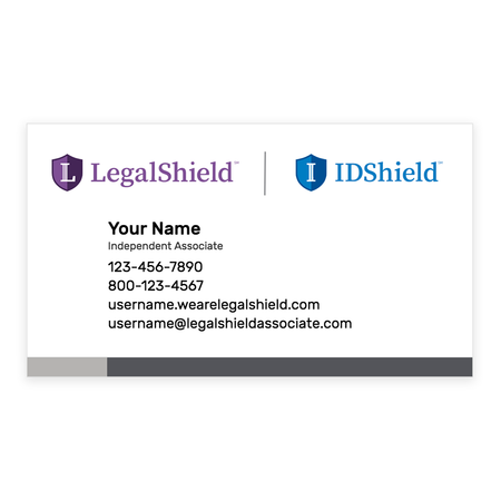 Logo Lock-Up Peel-and-Stick Business Cards