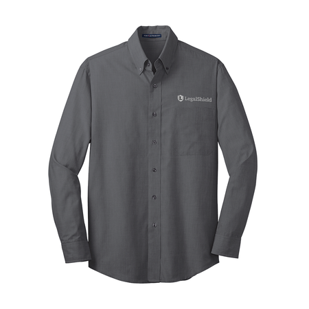 Tall Men's Crosshatch Easy Care Shirt