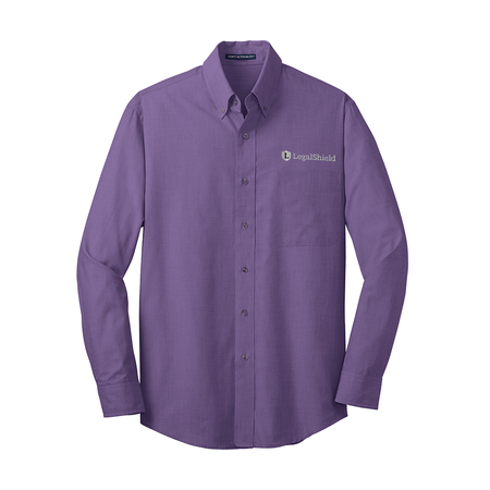 Men's Crosshatch Easy Care Shirt - LegalShield Logo