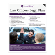 Law Officers Legal Plan Flyer