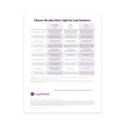 Small Business Flyer - Legal Plans (Washington)