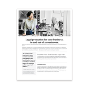 Small Business Flyer - Trial Defense Supplement