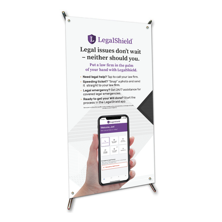 "LegalShield X-Frame Table Top Sign (9""x17"")"
