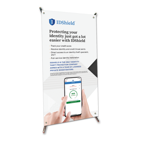 "IDShield X-Frame Table Top Sign (9""x17"")"