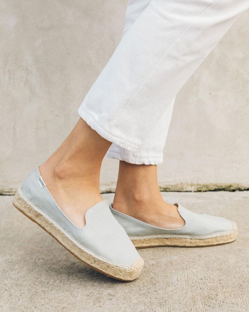 Platform Espadrille Smoking Slipper chambray
