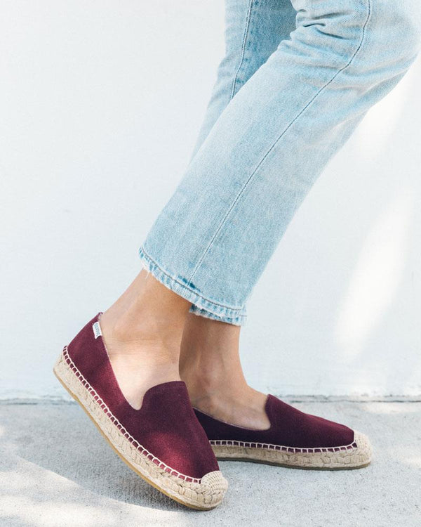Suede Platform Smoking Slipper image