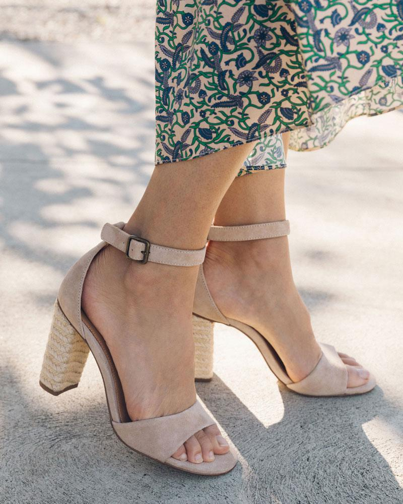 Tall Capri Sandal blush