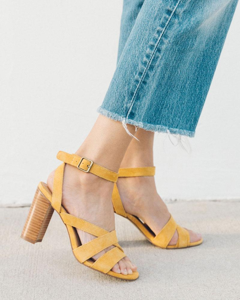 Emile Leather Heel marigold