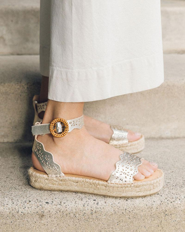 Soludos x Anthropologie: Cadiz Perforated Sandal image