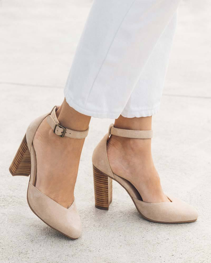 Suede Collette Heel blush