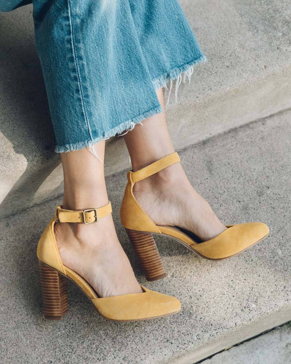 Suede Collette Heel image