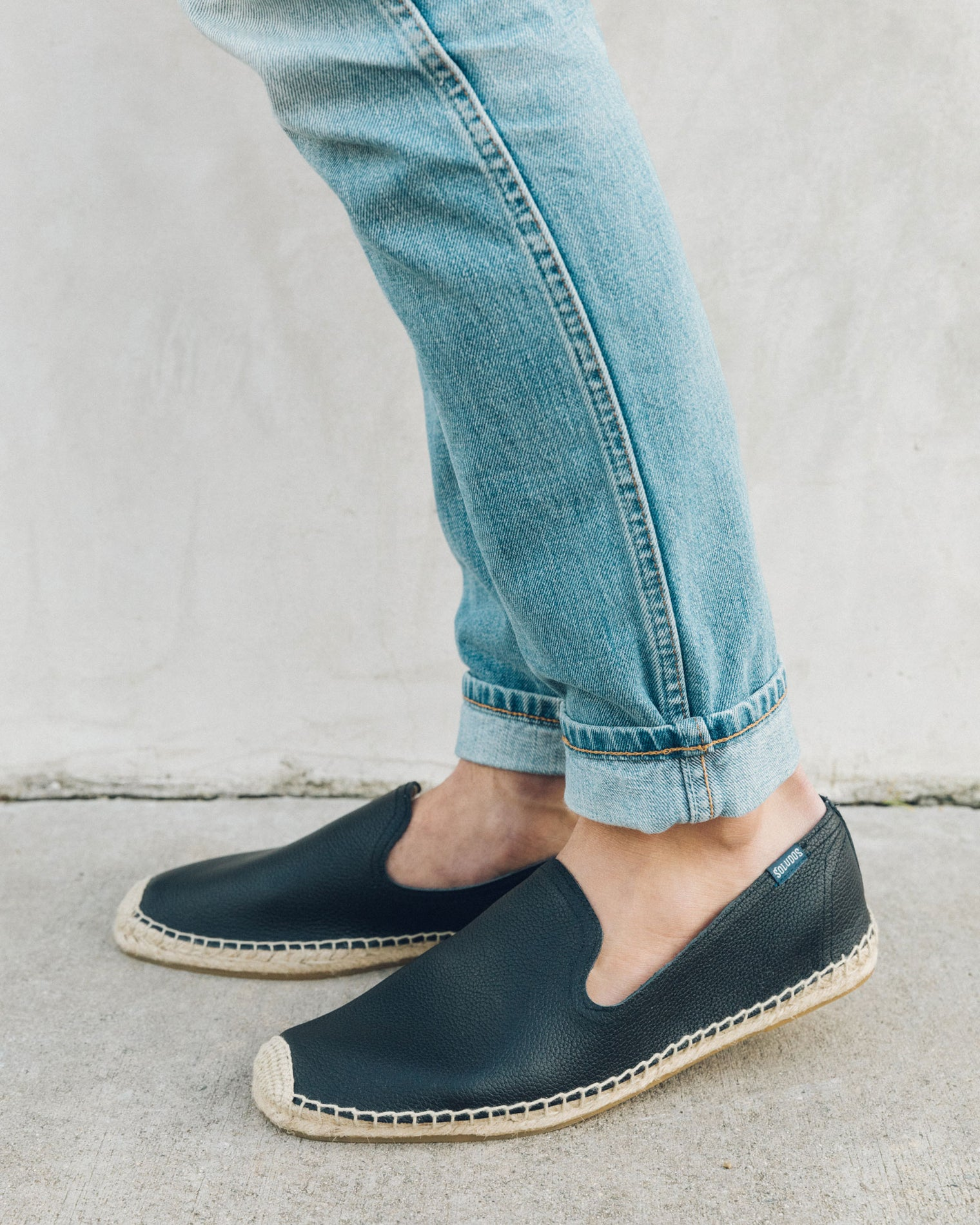 Men's Leather Smoking Slipper