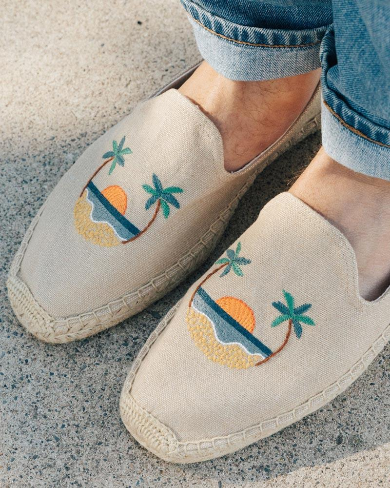 Mens Sunset Smoking Slipper safari