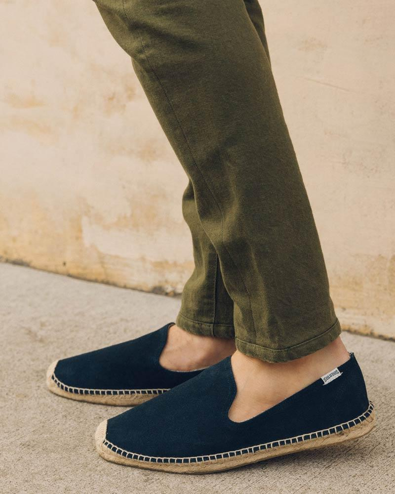 Mens Suede Smoking Slipper navy