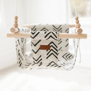 Low back mud cloth swing