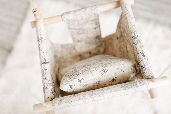 Navigation Map Fabric Baby Swing