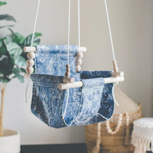 Boho Mud Cloth High Back Fabric Baby Swing
