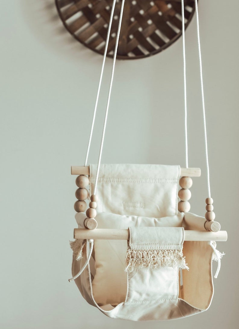 High Back Boho Beige Swing
