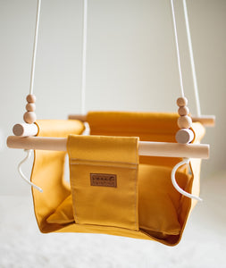 Low back mustard swing with pillow