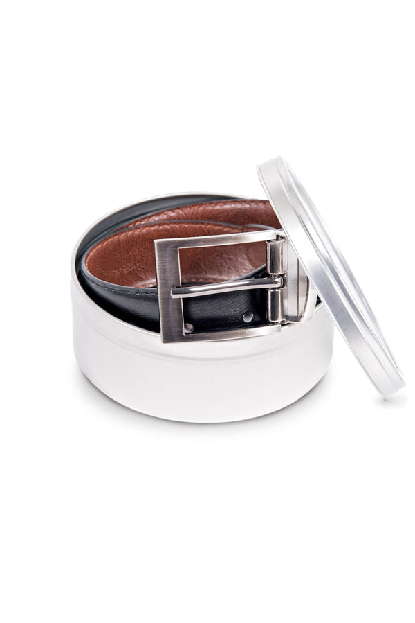 Black and Brown Reversible Belt (Clasp)