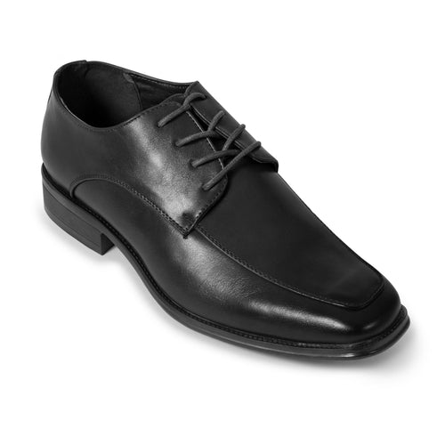 Black Moc Toe Derby Dress Shoe